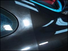 Simco polishing of a car (headlights, a body),