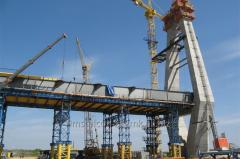 Construction and repair of bridges, platforms,