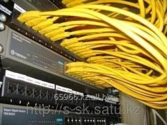 Installation of structured cabling networks SCS