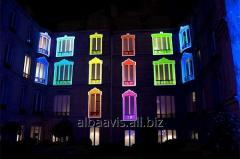 Decorative illumination of windows, illumination