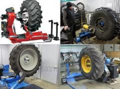 Tyre fitting of special machinery