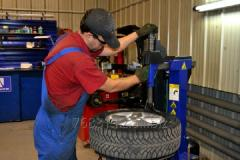 Passenger tire fitting