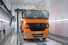 Washing of trucks