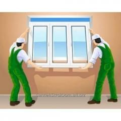 Installation of reinforced-plastic windows
