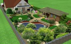 Landscaping design of garden