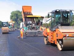Дорожное строительство в Астане