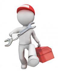 Repair of equipment for laundries