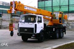 Services of a truck crane