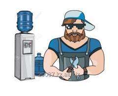 Ремонт и санитарная обработка диспенсера для воды