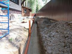 Building of drainage system