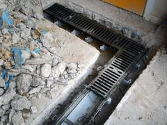 Установка глубинных дренажных систем
