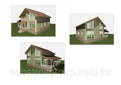 Construction of houses from thermal insulation