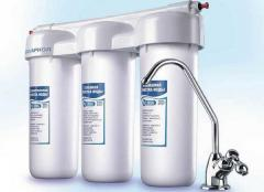 Chemical flush of grid self-cleaning water filter