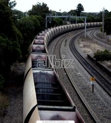 Railway freight transport-logistical services