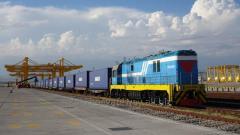 Прием/отправка поездов на Сухом порте Khorgos