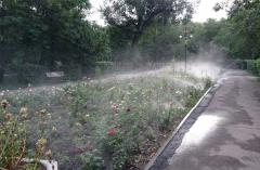 Organization of system of watering and drainage