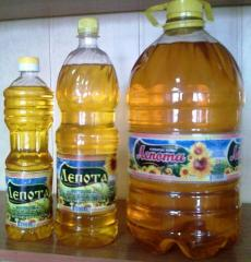 Packing of sunflower oil