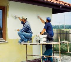 Services on painting works and furnish of facades