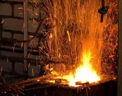 Forging works, forged metals
