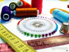Пошив одежды и прочих принадлежностей