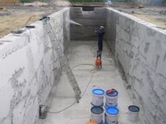 Гидроизоляция цементного резервуара
