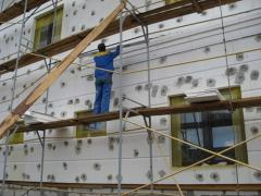 Heat insulation of facades with polyfoam