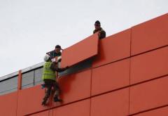 Installation of ventilated facades