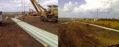 Construction works of oil and gas pipelines