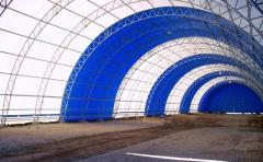 Manufacturing of frame tent hangars on order