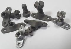 Injection moulding from metal of component with