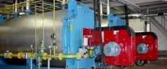Commissioning works, testing of thermal networks
