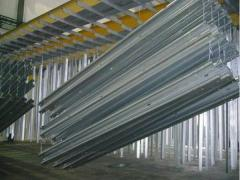 Pot galvanizing of hardware and metal structures