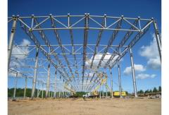 Installation of typical pre-fabricated hangars