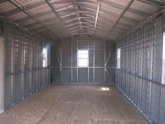 Design of light steel structures hangars
