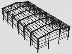 Design of hangars steel structures according to