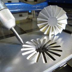 Waterjet machining metal products