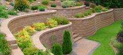 Paving, terracing of slopes