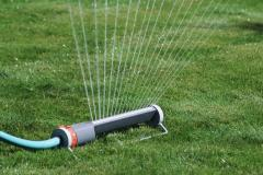 Treatment of lawns with pesticides