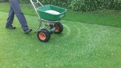 Fertilizing of lawns