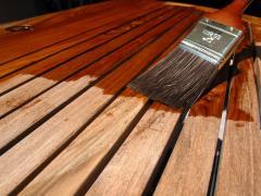 Обработка деревянных конструкций  негорином и