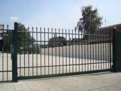 Production of retractable gate