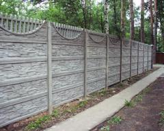 Installation of concrete fencing