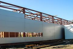 Installation of enclosing constructions, roofing