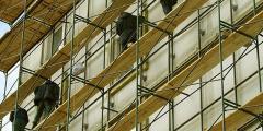 Работы на лесах строительных
