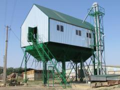 Строительство комплексов зерноочистительных