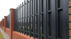 Installation of metal fencing