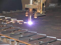 Plasma cutting of metal-roll (sheet, pipes)