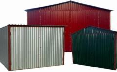 Монтаж гаражей металлических