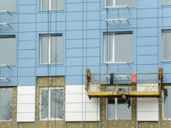 Установка тепло- и гидроизоляции на фасаде здания