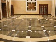 Laying of marble flooring